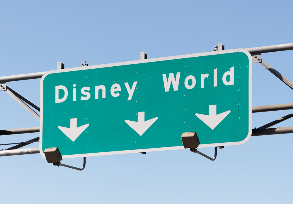 Disney World exit sign